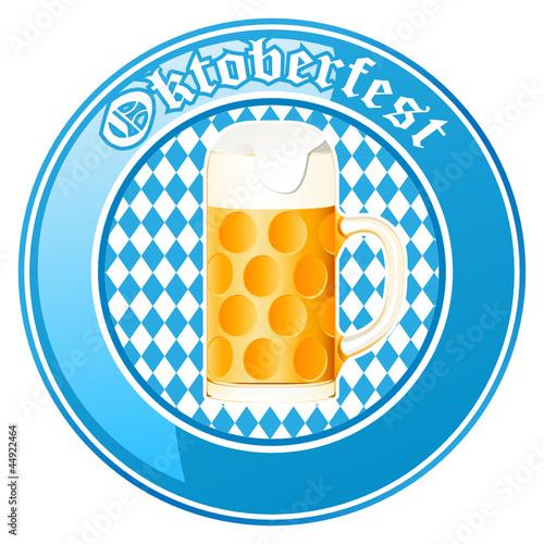 Oktoberfest Button mit Bierkrug
