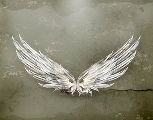 Wings white old-style