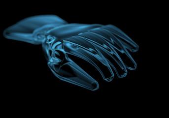 Glove (3D xray blue transparent)