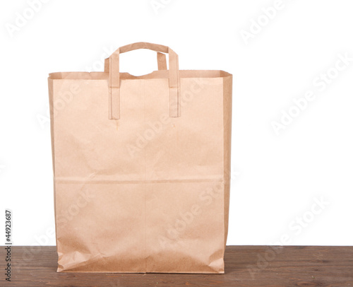 Plain brown paper bag - 44923687