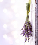 Fototapety lavender hanging from an old door