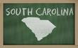 outline map of south carolina on blackboard