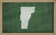 outline map of vermont on blackboard