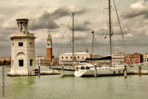 Venice, view from san giorgio. artistic toned picture