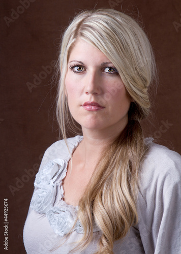 portrait of a middle aged 30-40 woman