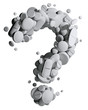 Question mark created of medical pills.