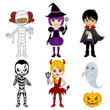 Halloween Cute monsters