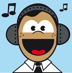 visage expression figure portrait musique bonheur