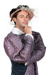 Man in Tudor Fancy Dress Costume