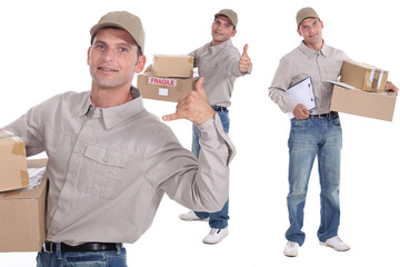 Man delivering parcels