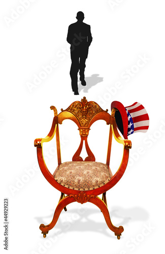 Empty Presidential Chair.