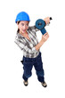 Young woman laborer