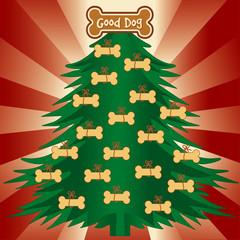 Good Dog Christmas Tree, gingerbread dog bone ornament treats