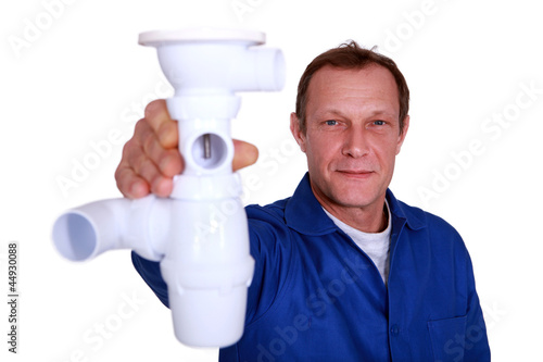 Plumber holding replacement part