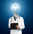 Lamp Head Doctor Man With Stethoscope