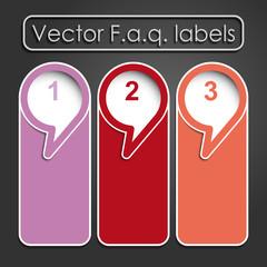 Vector faq labels