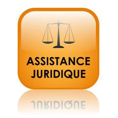 """Bouton Web """"ASSISTANCE JURIDIQUE"""" (droits justice conseil légal)"""