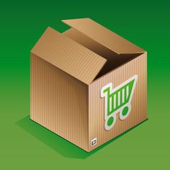 Vector icon of shipping box