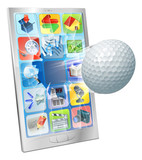 Golf ball flying out of cell phone