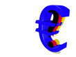 eurosymbol with question mark on white background - 3D