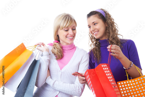 girlfriends  on shopping