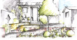Garden plan View Sketch - 44934288
