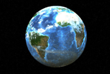 Dotted planet earth (3D)