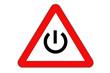 Power danger, road sign