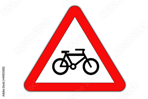 Bike danger, roadsign