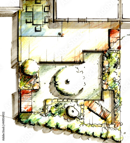 Wall mural Garden Sketch Design