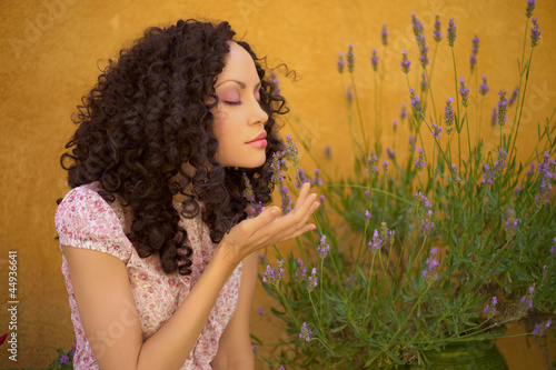 Beautiful lady with lavender