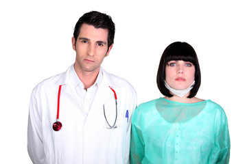 doctor and nurse on duty