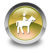 "Yellow Glossy Pictogram ""Horse Trail"""