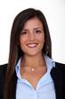 portrait of brunet businesswoman all smiles