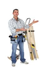 Carpenter stood in studio