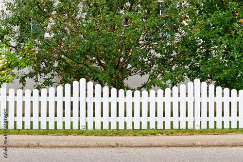 Grundstück mit Zaun