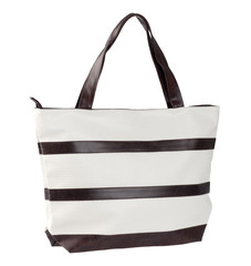 Nice casual woman handbag on white