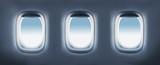 Fototapety three aircraft's porthole