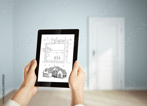 digital tablet and plan