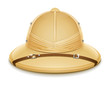 pith helmet hat for safari vector illustration isolated