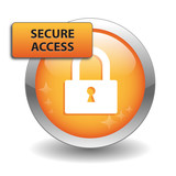 SECURE ACCESS Web Button (security internet connection padlock)