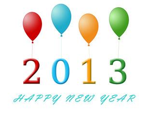Divertida tarjeta de Feliz Año 2013