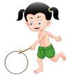 Thai boy playing toy