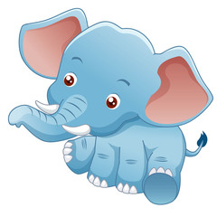 illustration Little Elephant Vector