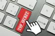 Top secret. Hand. Keyboard key