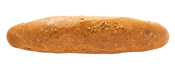 Rye baguette fully isolated