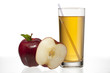 view of apples and apple juice