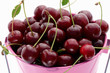 Cherries in a bucket