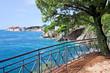 Adriatic Sea Coastline Near Dubrovnik