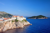 Dubrovnik and Lokrum Island on Adriatic Sea